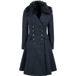 Hell Bunny Milan Coat Płaszcz damski granatowy. Niebieskie płaszcze damskie pastelowe Hell Bunny, l, z jedwabiu. Za 569,90 zł.
