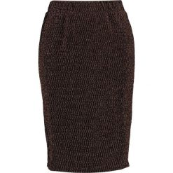 Spódniczki ołówkowe: Kaffe EVELY Spódnica ołówkowa  black with copper lurex