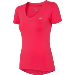 Koszulka treningowa damska TSDF300 - czerwony. Czerwone bluzki z odkrytymi ramionami 4f, z dzianiny, z krótkim rękawem. Za 49,99 zł.