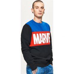 Bejsbolówki męskie: Bluza z logo marvel - Czarny