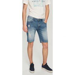 Jeansowe krótkie spodenki - Niebieski. Niebieskie spodenki chłopięce marki Reserved, z jeansu. W wyprzedaży za 79,99 zł.