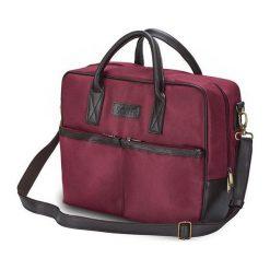 Solier Torba na ramię na laptopa Cidro bordowa. Czerwone torby na laptopa Solier. Za 130,67 zł.