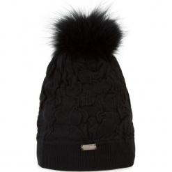 Czapka damska 87-HF-018-1. Czarne czapki zimowe damskie Wittchen, na zimę, z dzianiny. Za 79,00 zł.