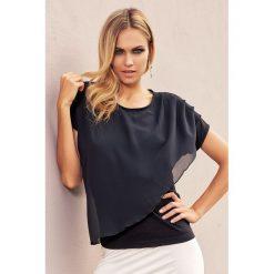 Bluzki asymetryczne: Elegancka damska bluzka Carolyn czarna