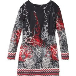 Sukienki dziewczęce: Sukienka shirtowa bonprix czarny z nadrukiem