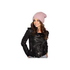 Czapka zimowa o grubym splocie LC105. Czarne czapki damskie Lemoniade, na zimę, ze splotem. Za 69,90 zł.