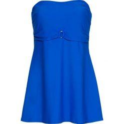 Tankini z dłuższym topem (2 części) bonprix błękit królewski. Niebieskie bikini bonprix. Za 109,99 zł.