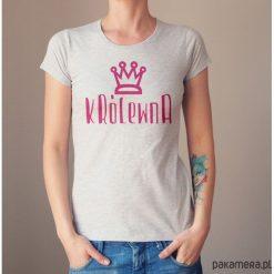 Królewna dopasowana koszulka tshirt damski. Niebieskie t-shirty damskie marki Pakamera, z bawełny. Za 85,00 zł.