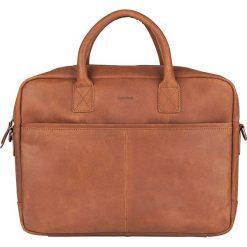 Skórzana torebka w kolorze szarobrązowym na laptop - 40 x 29 x 5 cm. Brązowe torby na laptopa marki Bloomsbury, w paski, ze skóry. W wyprzedaży za 253,95 zł.