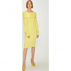 Answear - Sukienka Watch Me. Szare sukienki dzianinowe ANSWEAR, na co dzień, l, casualowe, mini, proste. W wyprzedaży za 99,90 zł.