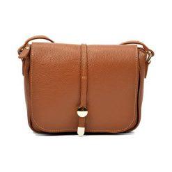 Torebki klasyczne damskie: Skórzana torebka w kolorze jasnobrązowym – (S)21 x (W)25 x (G)6 cm