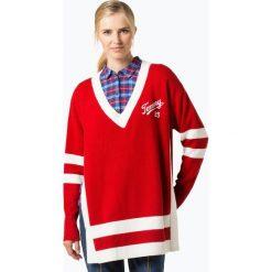 Tommy Jeans - Sweter damski, czerwony. Czerwone swetry oversize damskie Tommy Jeans, l, z jeansu. Za 599,95 zł.