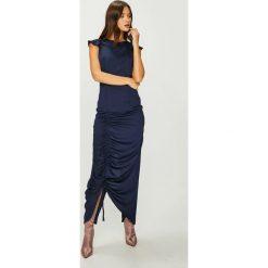 Answear - Sukienka Nomad. Szare długie sukienki marki ANSWEAR, na co dzień, l, z poliesteru, casualowe, z okrągłym kołnierzem, dopasowane. W wyprzedaży za 114,90 zł.