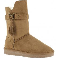 """Kozaki zimowe """"Crawford"""" w kolorze jasnobrązowym. Szare buty zimowe damskie marki Marco Tozzi. W wyprzedaży za 165,95 zł."""