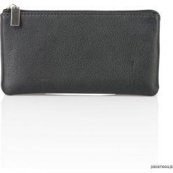 Skórzany portfel damski czarny Lou G-116. Czarne portfele damskie Pakamera, w paski. Za 169,00 zł.