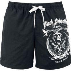 Black Sabbath The End - Grim Reaper Kąpielówki czarny. Czarne kąpielówki męskie marki Black Sabbath, s, z nadrukiem. Za 79,90 zł.