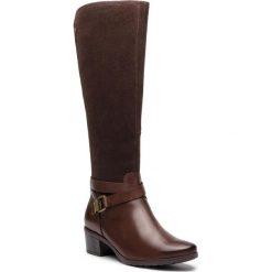 Kozaki CAPRICE - 9-25608-21 DK Brown Comb 329. Brązowe buty zimowe damskie Caprice, z materiału. W wyprzedaży za 359,00 zł.