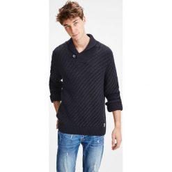 Swetry męskie: Sweter z grubej dzianiny, szalowy kołnierz