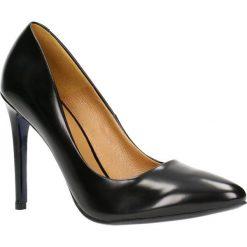 Czółenka MELANIA. Czarne buty ślubne damskie Gino Rossi, ze skóry, na obcasie. Za 249,90 zł.