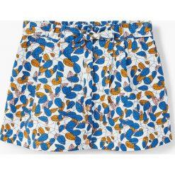Mango Kids - Spódnica dziecięca Marionne 74-98 cm. Szare spódniczki Mango Kids, z bawełny, mini. W wyprzedaży za 49,90 zł.