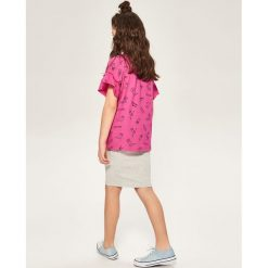 Spódniczki dziewczęce z falbankami: Elastyczna spódnica ołówkowa – Jasny szar