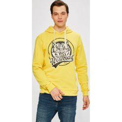 Blend - Bluza. Białe bluzy męskie rozpinane marki Blend, l, z nadrukiem, z bawełny, z kapturem. W wyprzedaży za 79,90 zł.