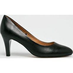 Caprice - Czółenka. Szare buty ślubne damskie Caprice, z materiału, na obcasie. W wyprzedaży za 219,90 zł.