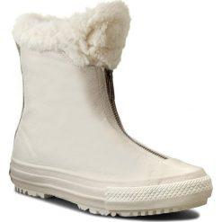 Buty zimowe damskie: Botki CONVERSE - Ctas Boot Shroud Leather+Fur X 553351C Parchment/Egret/Egret