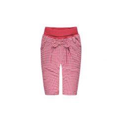 Steiff Girls Spodnie Kratka czerwony. Czerwone spodnie chłopięce marki Steiff, w kratkę, z bawełny. Za 125,00 zł.