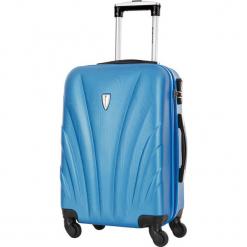 Walizka w kolorze niebieskim - 99 l. Niebieskie walizki Platinium, z materiału. W wyprzedaży za 269,95 zł.