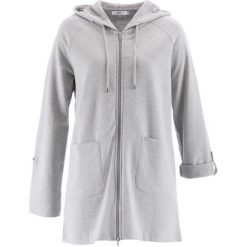 Długa bluza rozpinana, długi rękaw bonprix jasnoszary melanż. Szare bluzy rozpinane damskie bonprix, melanż, z długim rękawem, długie. Za 89,99 zł.