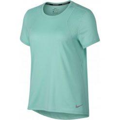Nike Koszulka Biegowa Damska W Nk Run Top Ss, Emerald Rise S. Czarne bluzki sportowe damskie marki Nike, xs, z bawełny. Za 89,00 zł.
