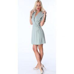 Sukienki: Sukienka z klamerką oliwkowa 1670