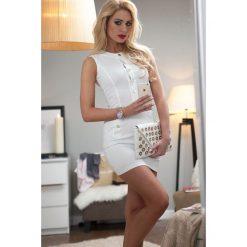 Sukienka Kremowa 9640. Białe sukienki Fasardi, l. Za 39,00 zł.