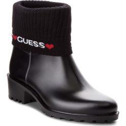 Kalosze GUESS - FLVNT3 ELE09 BLACK. Czarne buty zimowe damskie Guess, z materiału. W wyprzedaży za 349,00 zł.