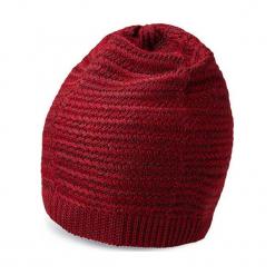 Czapka w kolorze bordowym. Czerwone czapki męskie Vistula, z dzianiny. W wyprzedaży za 89,95 zł.