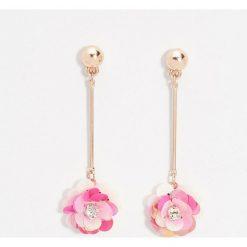 Kolczyki damskie: Długie kolczyki kwiaty – Wielobarwn