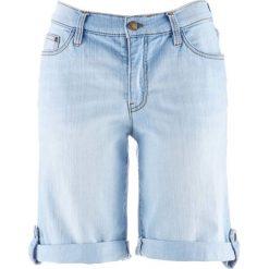 Szorty dżinsowe bonprix jasnoniebieski. Niebieskie bermudy damskie bonprix, z jeansu, klasyczne. Za 74,99 zł.