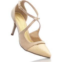 Czółenka bonprix naturalny. Szare buty ślubne damskie bonprix. Za 44,99 zł.