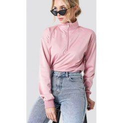 Bluzy damskie: NA-KD Trend Bluza z suwakiem – Pink