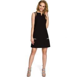 RUBY Prosta sukienka bez rękawów - czarna. Czarne sukienki na komunię Moe, na co dzień, z tiulu, bez rękawów. Za 109,00 zł.