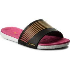 Chodaki damskie: Klapki RIDER - Resort Fem 82207 White/Black/Pink 23444