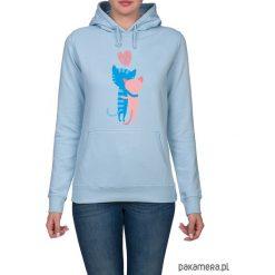 Bluzy rozpinane damskie: Bluza damska z kotkami. zamówienie