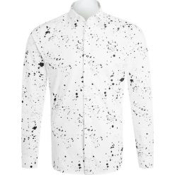 Koszule męskie na spinki: Noose & Monkey SPLATTER TOOLE Koszula white