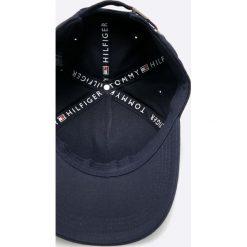 Tommy Hilfiger - Czapka. Szare czapki z daszkiem męskie TOMMY HILFIGER, z bawełny. W wyprzedaży za 129,90 zł.