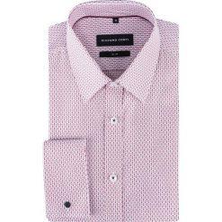Koszula SIMONE slim KDWS000313. Różowe koszule męskie na spinki Giacomo Conti, m, z nadrukiem, z bawełny, z klasycznym kołnierzykiem. Za 259,00 zł.