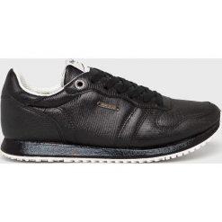 Pepe Jeans - Buty. Czarne buty sportowe damskie Pepe Jeans, z jeansu. W wyprzedaży za 279,90 zł.