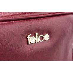 SKÓRZANA TOREBKA LISTONOSZKA FELICE GOLD FLORENCE LYDIA. Białe shopper bag damskie FeliceGold, w paski, z bawełny, na ramię. Za 279,00 zł.