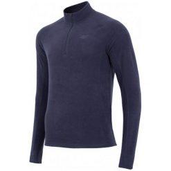 4F Męska Podkoszulka Z Długim Rękawem H4Z17 bimp001 Granat Ciemny M. Białe odzież termoaktywna męska marki B'TWIN, m, z elastanu, z krótkim rękawem. W wyprzedaży za 49,00 zł.