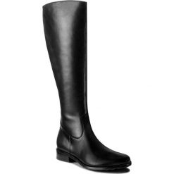 Oficerki EKSBUT - 96-4327-155-1G Czarny. Czarne buty zimowe damskie Eksbut, ze skóry. W wyprzedaży za 329,00 zł.